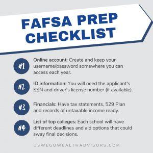 FAFSA Prep Checklist